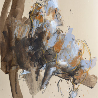 Renewal 2, mixed media painting on paper